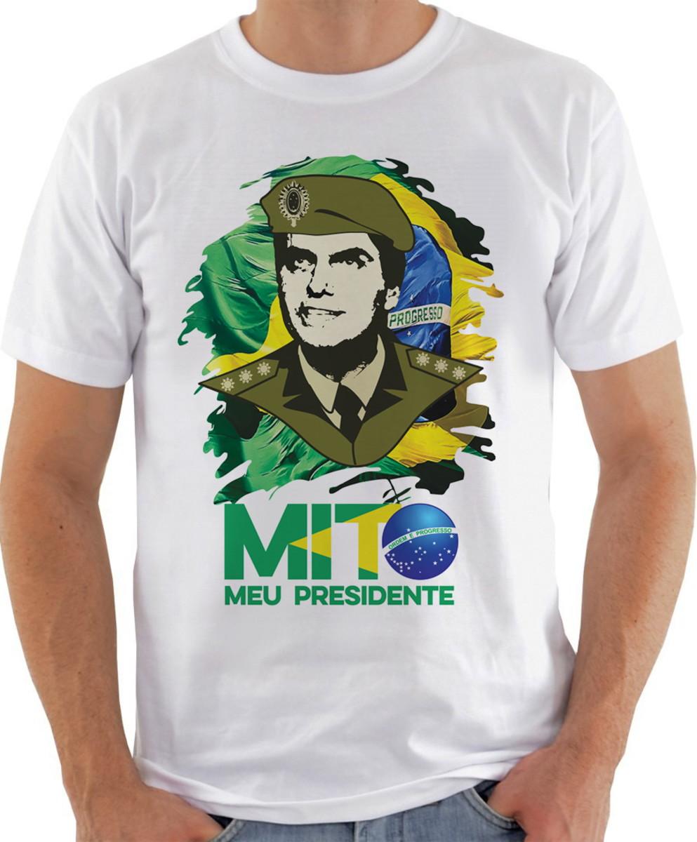 e04e890f40 Camiseta Camisa bolsonaro mito patriota brasil presidente no Elo7 ...