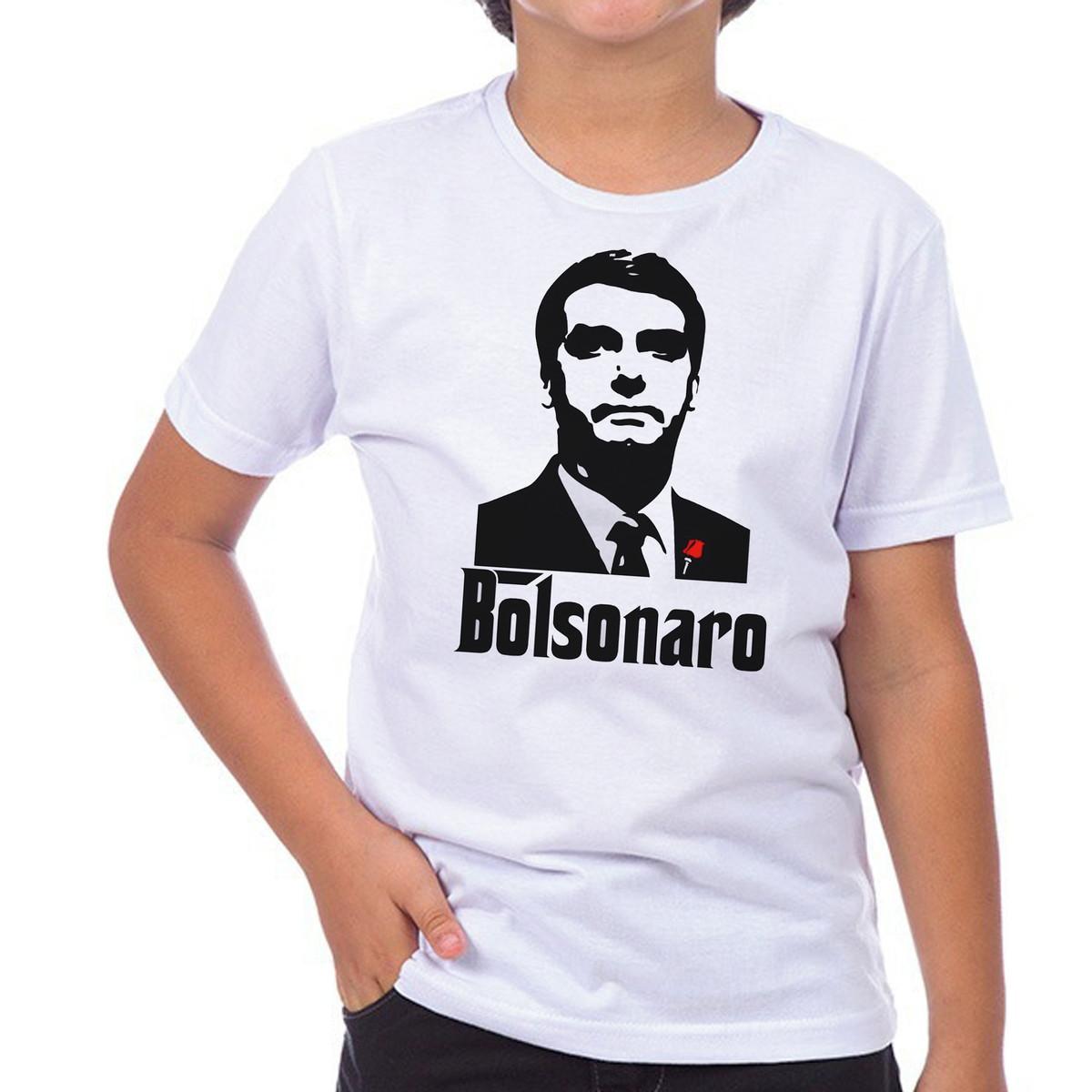 Camiseta Camisa bolsonaro poderoso chefão presidente no Elo7  d84696213cf49