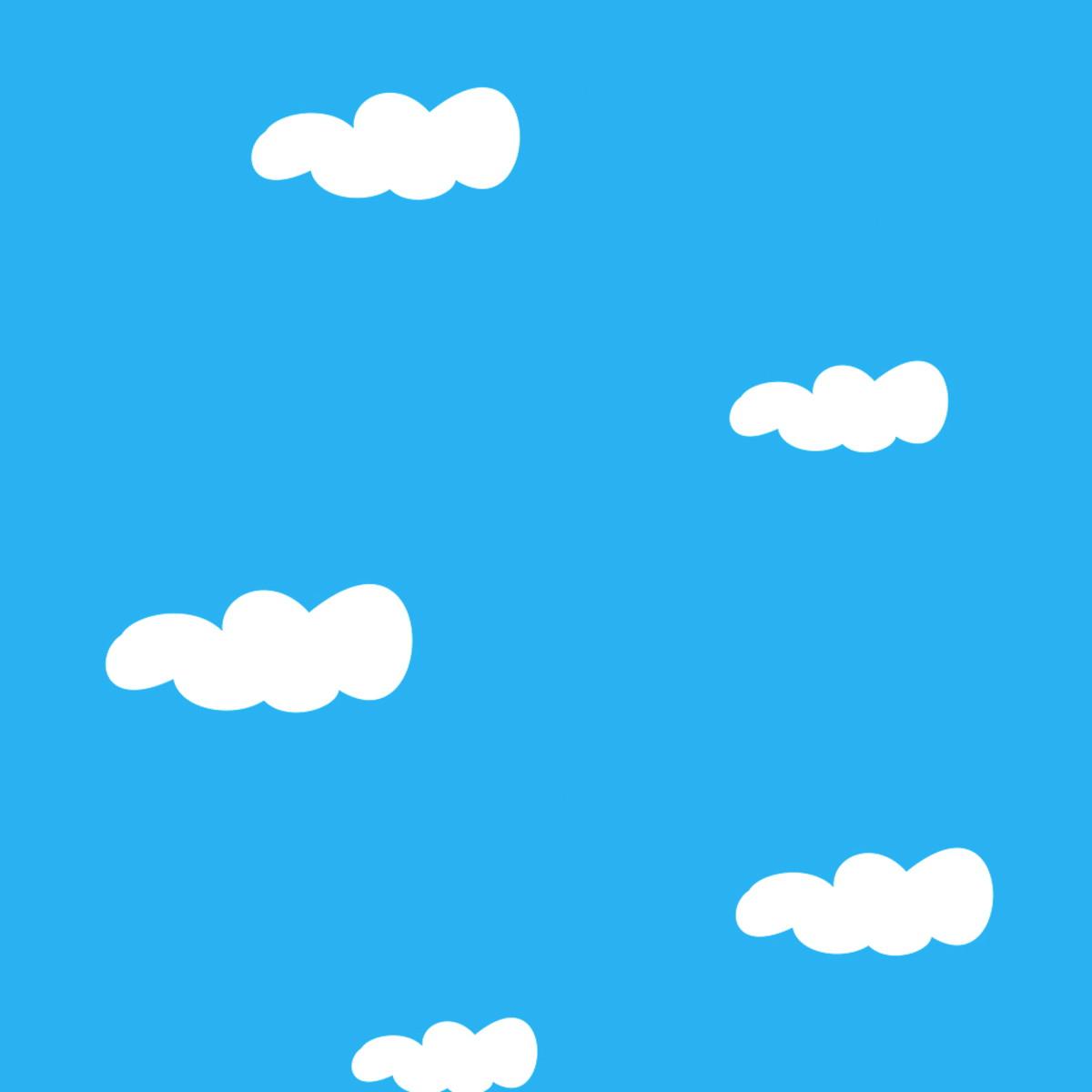 Papel De Parede Nuvens Fundo Azul Ceu Vinil No Elo7 B Shop Decor