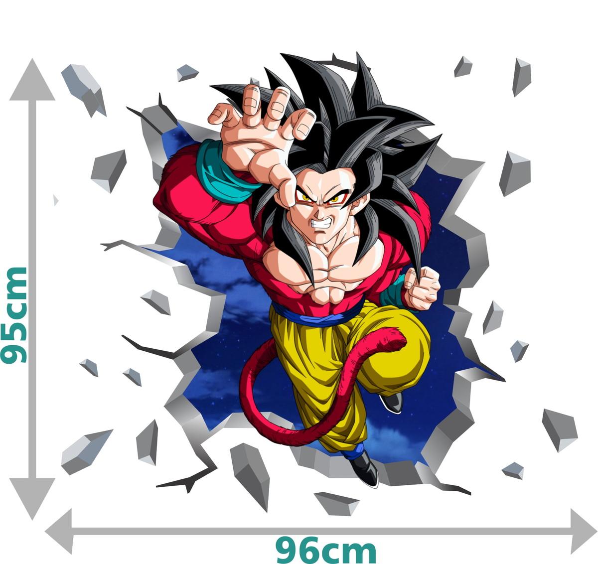 Adesivo 3d Parede Dragon Ball Super Super Saiyajin 4 No Elo7