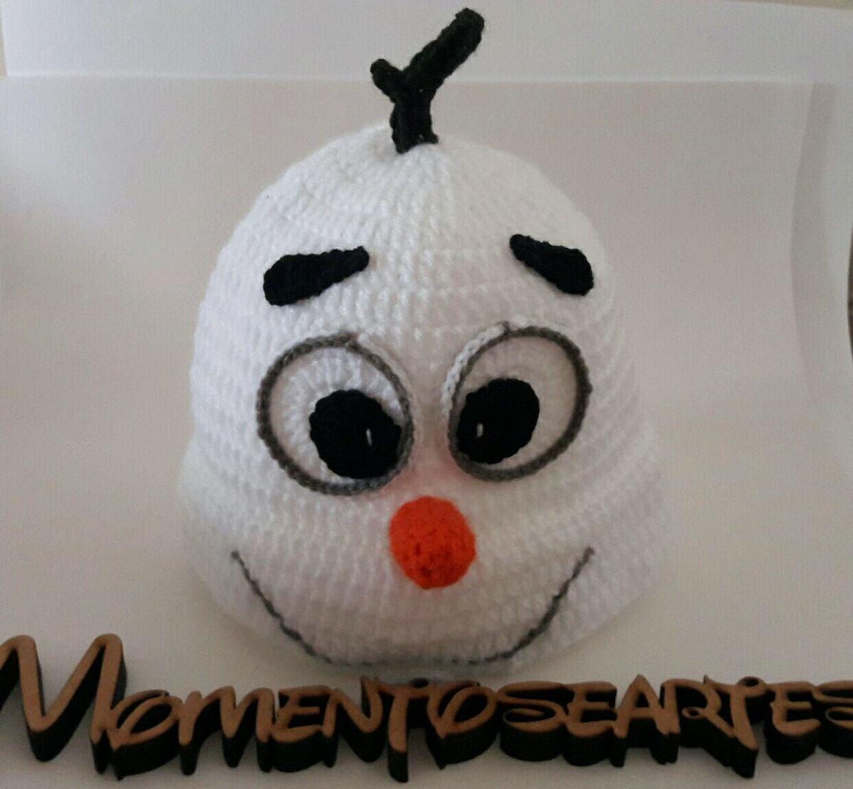 Touca de Croche Olaf no Elo7  eb527996463