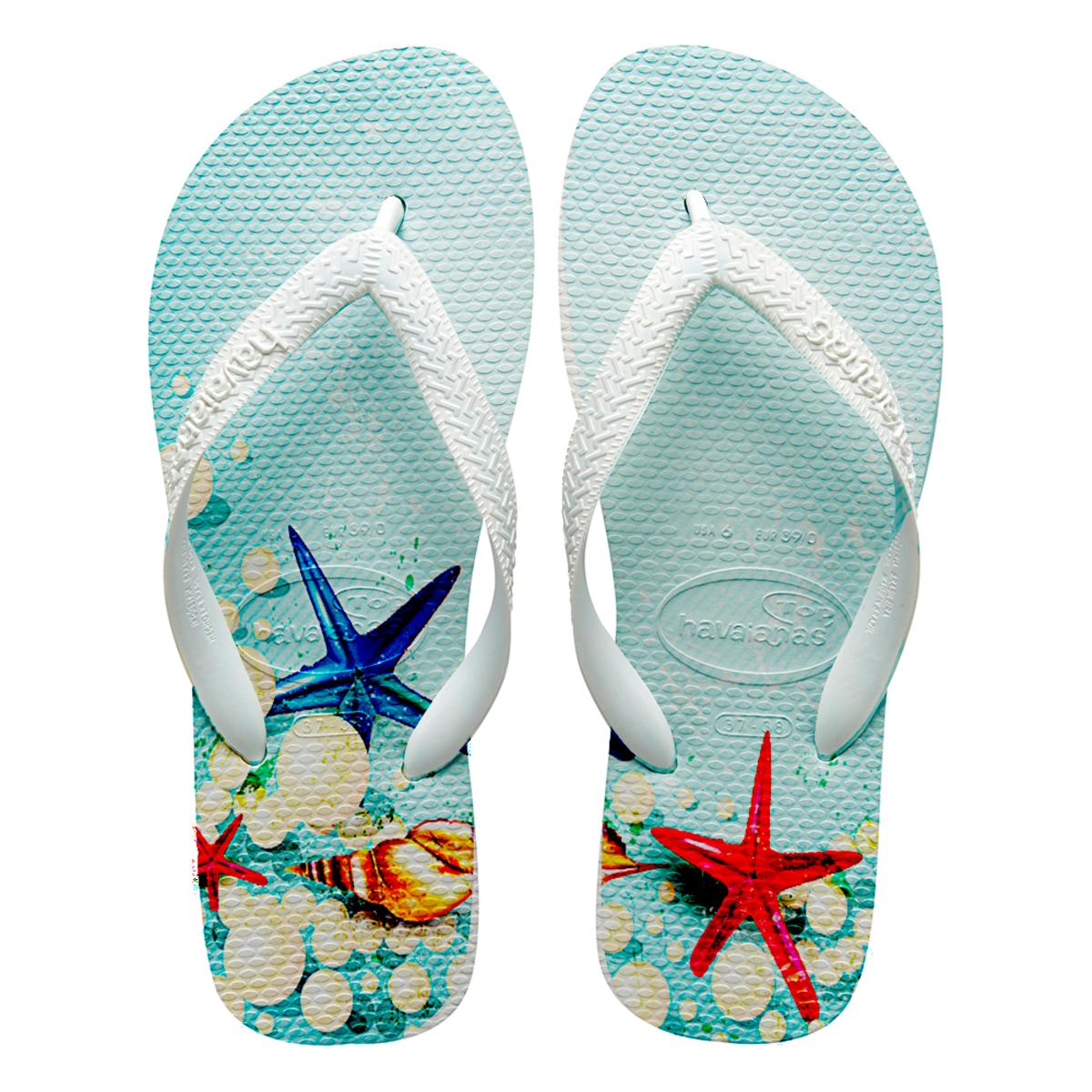 a63c428733 Chinelos havaianas personalizados Praia fundo do mar no Elo7 ...