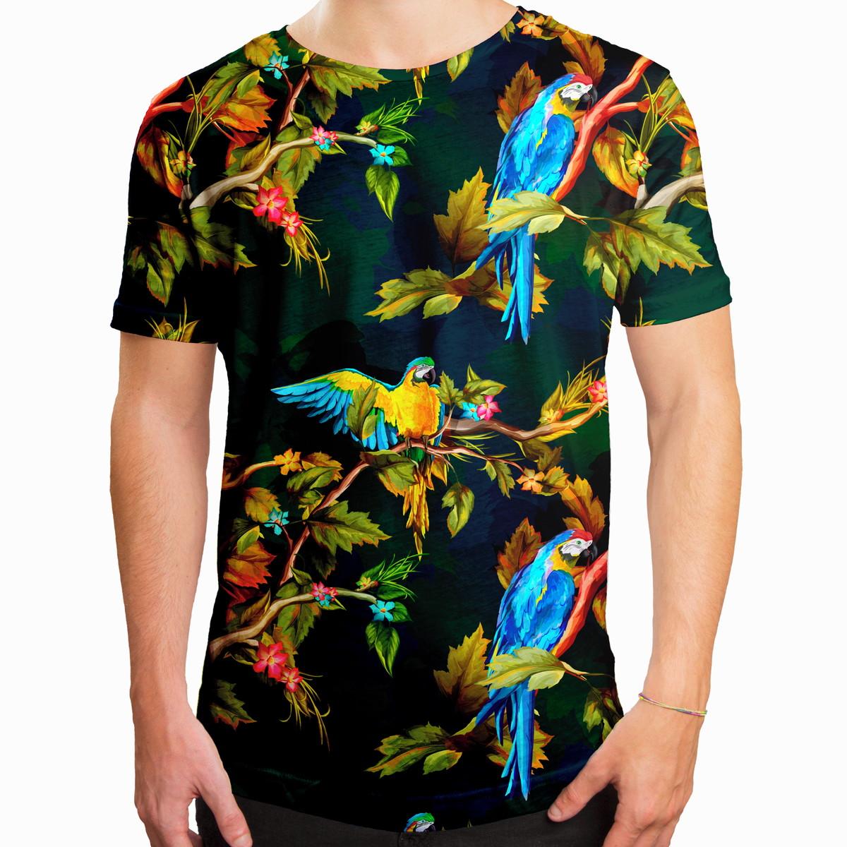 3339e4232 Camiseta Masculina Longline Swag Araras Estampa Digital no Elo7 ...