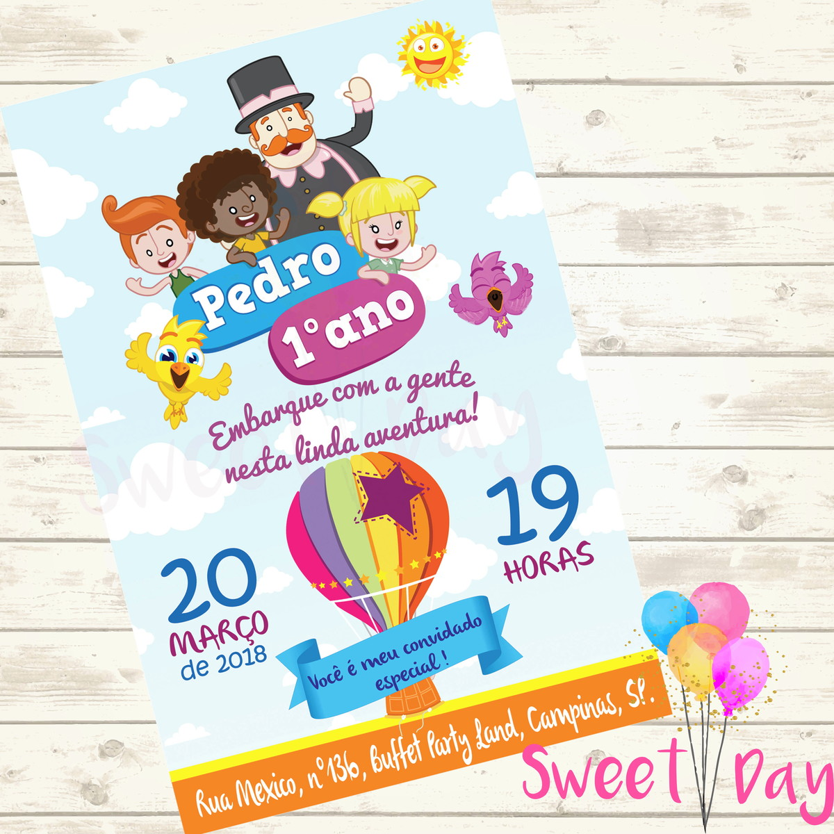 Convite Virtual Mundo Bita No Elo7 Sweet Day D47181