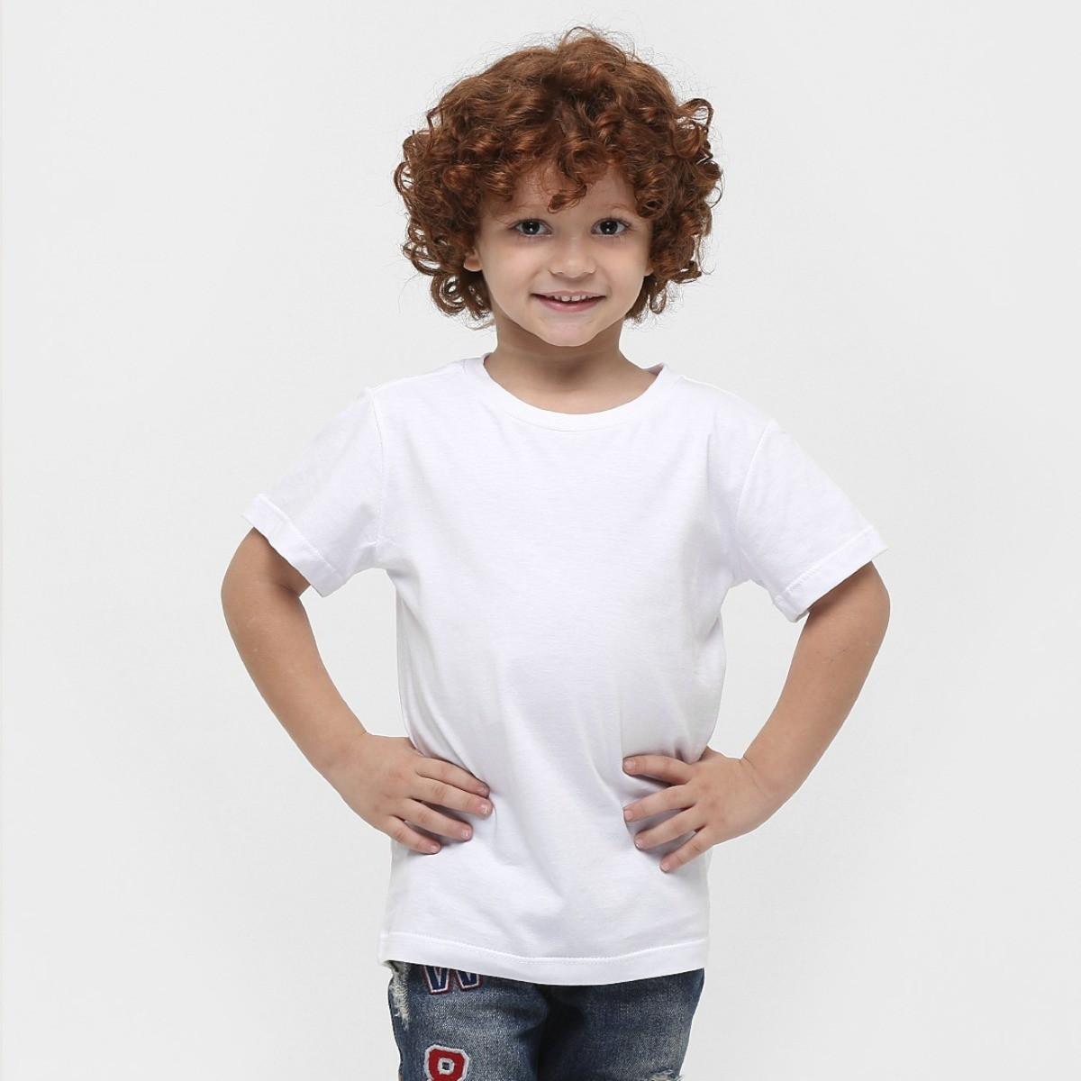 6527ee387f Camiseta Infantil Básica Lisa Algodão Cores Unissex Branca no Elo7 ...