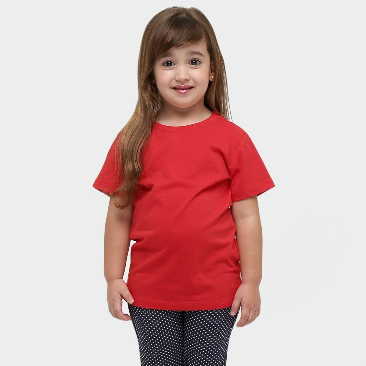 271c78dabc Camiseta Infantil Básica Lisa Algodão Unissex Vermelha no Elo7 ...