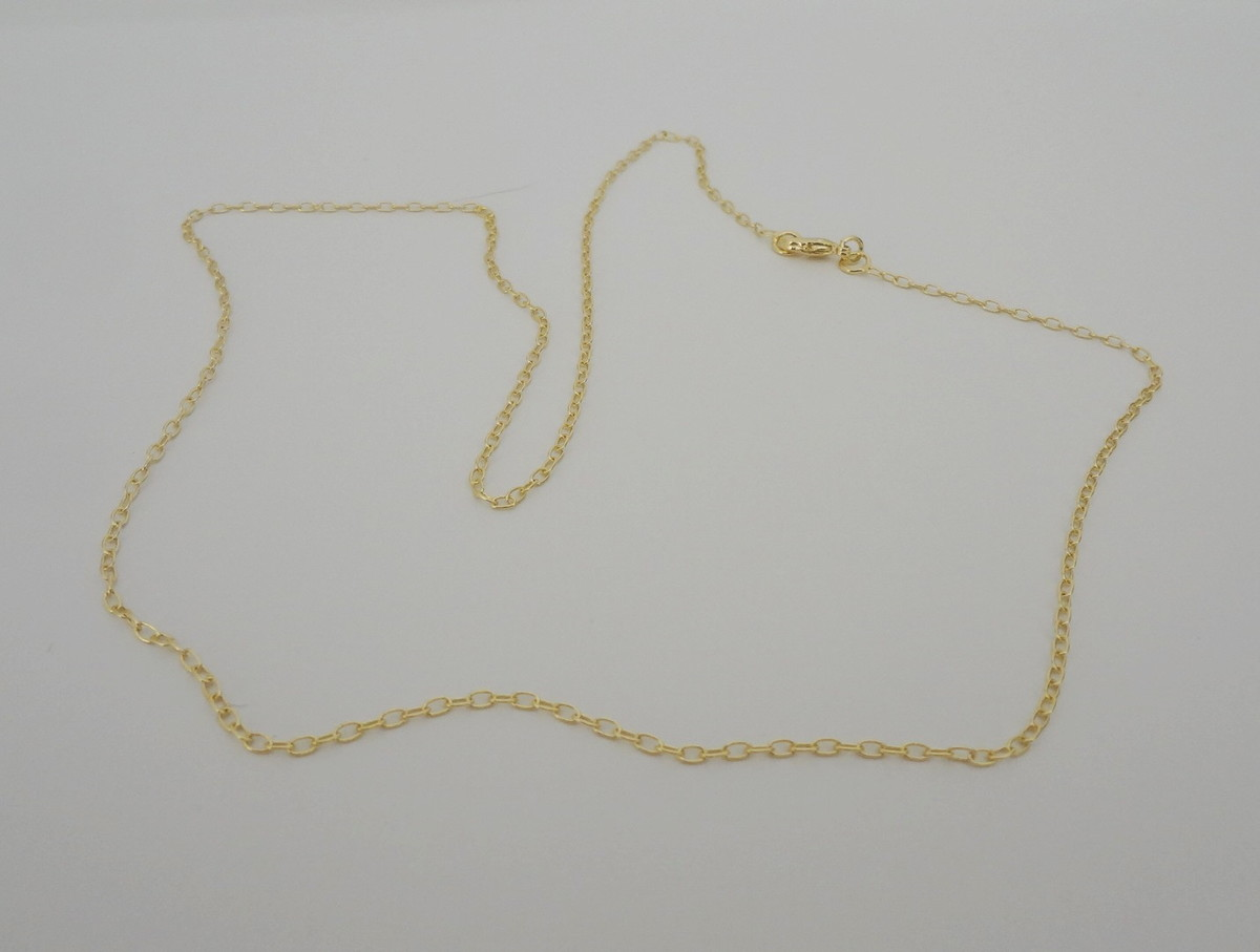 32f26040cd7 Corrente Folheada a Ouro - Elos Cartier Ovais - 55 cm no Elo7 ...