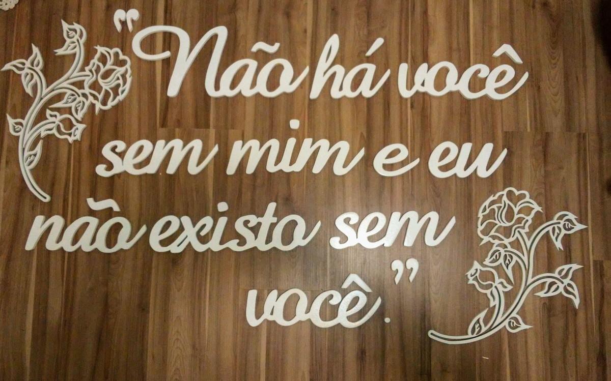 Letras Decorativas Frase Decorativa De Parede Em Mdf