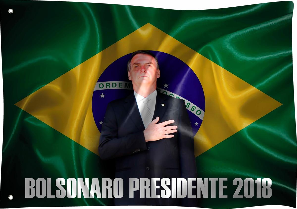 Bandeira Bolsonaro Presidente 2018 02 no Elo7  0b5c68a1029df