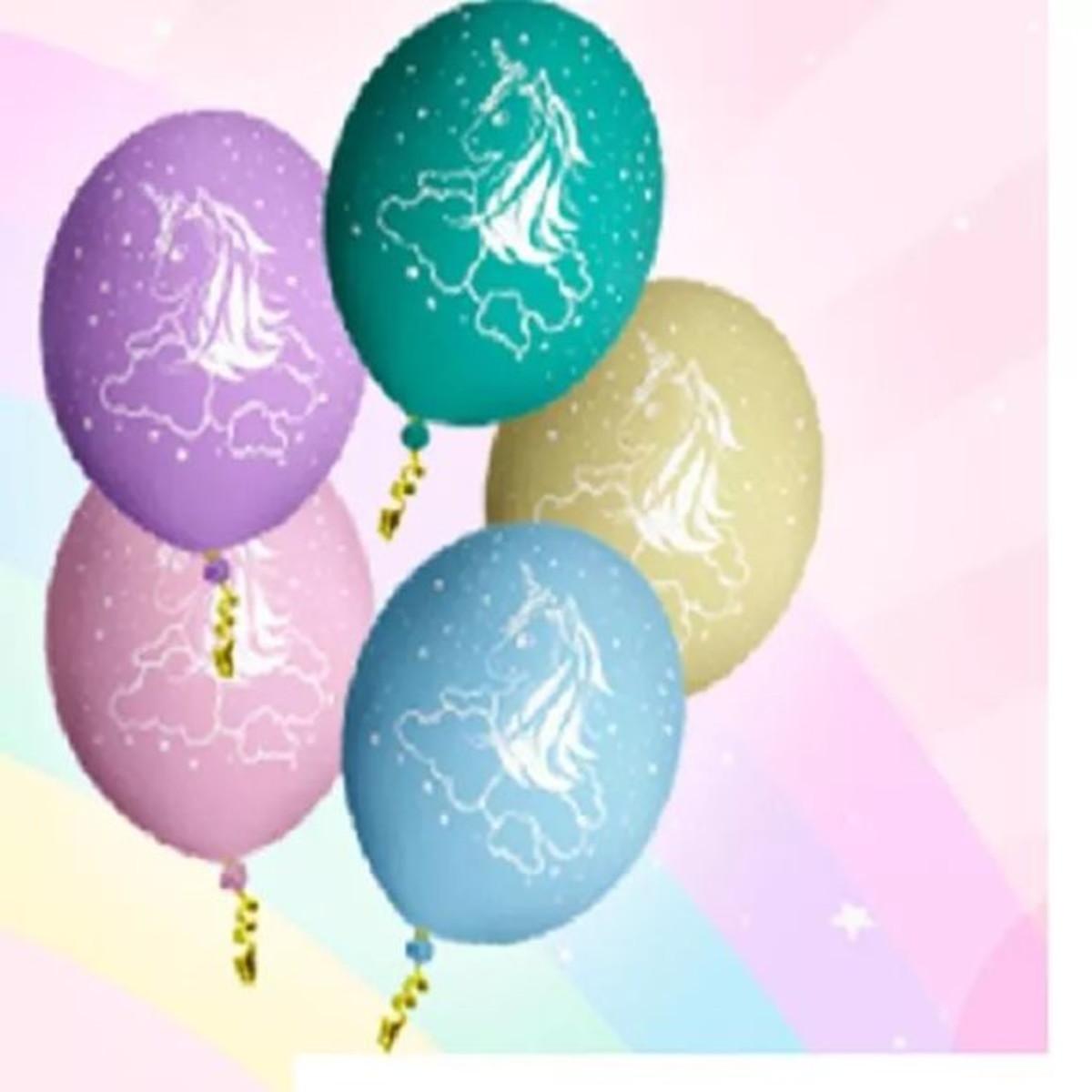 Balão Latex Bexiga Unicórnio - Pct C  25 Balões no Elo7  f917cf2b24d