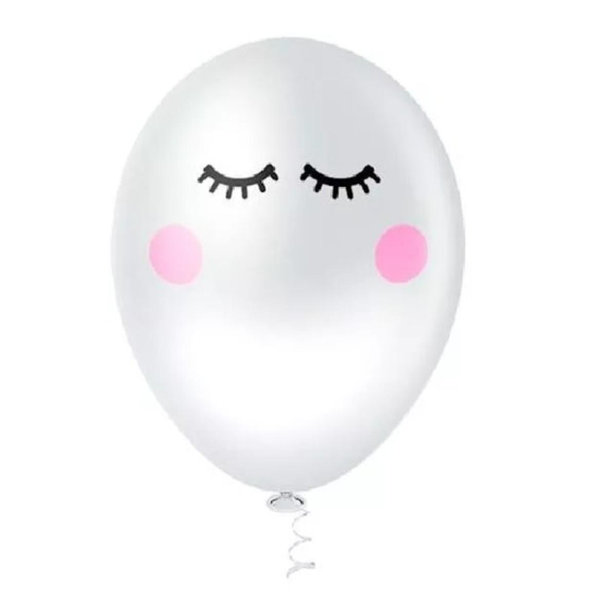 Balão Bola Bexiga Olhinhos Cílios - Pct C  25 Balões no Elo7 ... 890ab2c4487