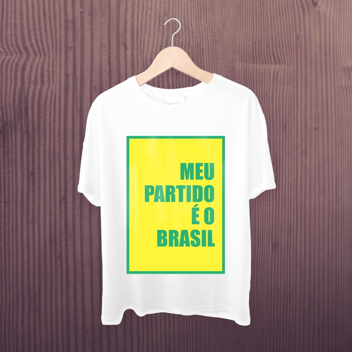 38f2ffd9d8 Camiseta Meu partido é o Brasil - Camisa Bolsonaro mito 2018 no Elo7 ...