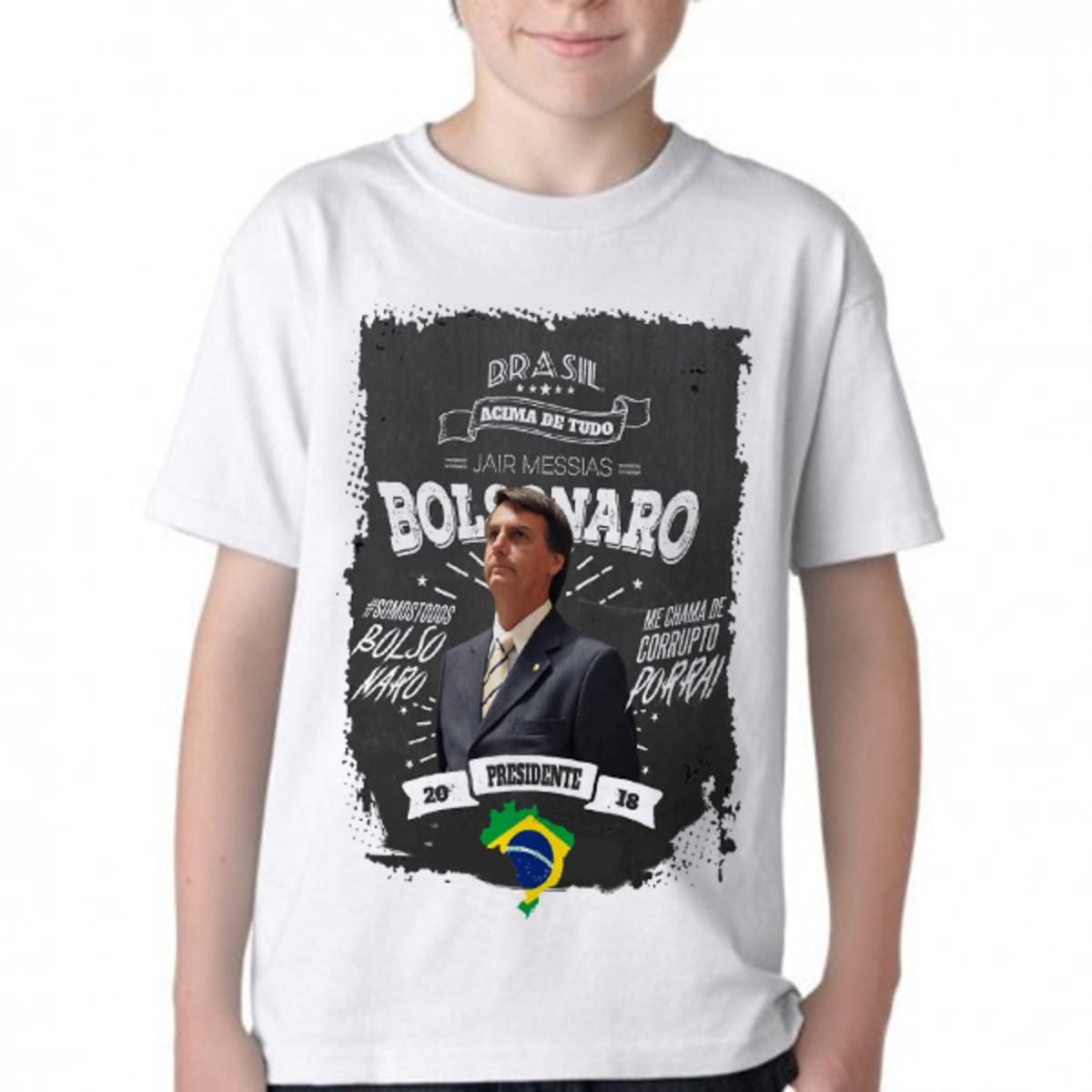 Camiseta Infantil Blusa Criança Bolsonaro mito presidente no Elo7 ... 8e941d3b671