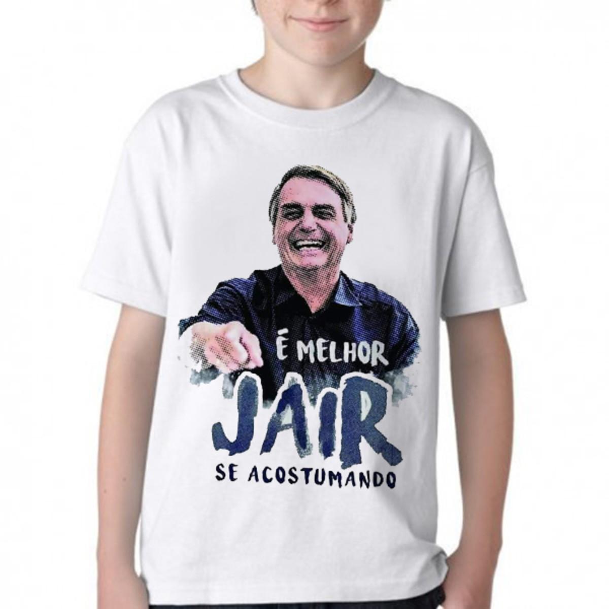 06e2ef38b8 Camiseta Infantil Blusa Melhor Jair acostumando Bolsonaro no Elo7 ...