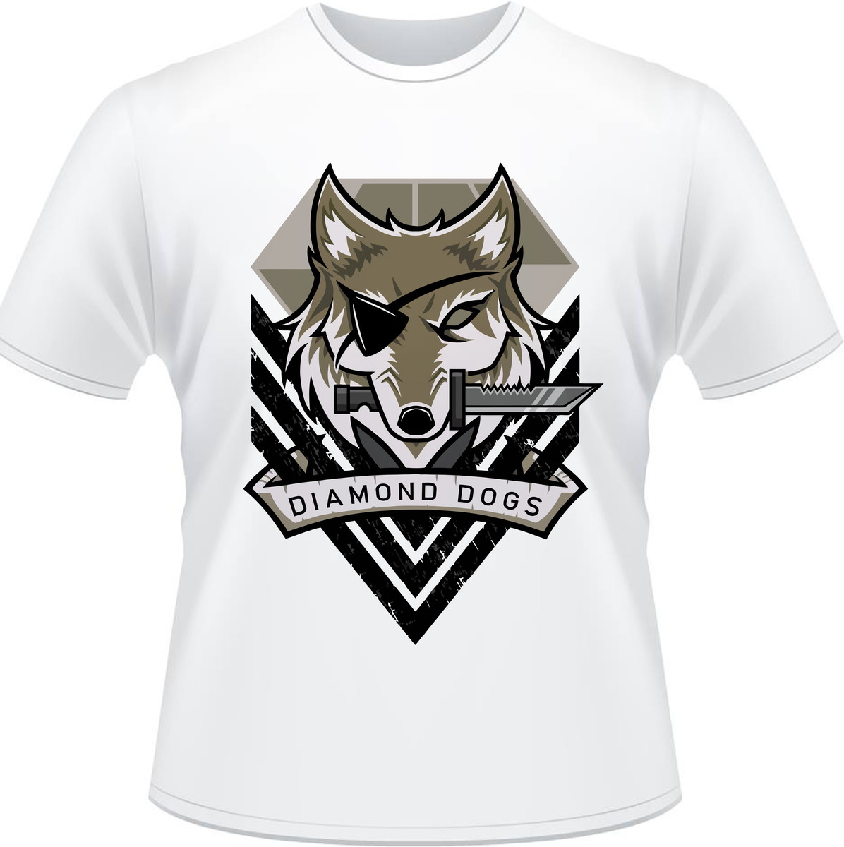 7759d5bdc13c9 Camiseta Metal Gear Solid V Diamond Dogs Masculina no Elo7 ...