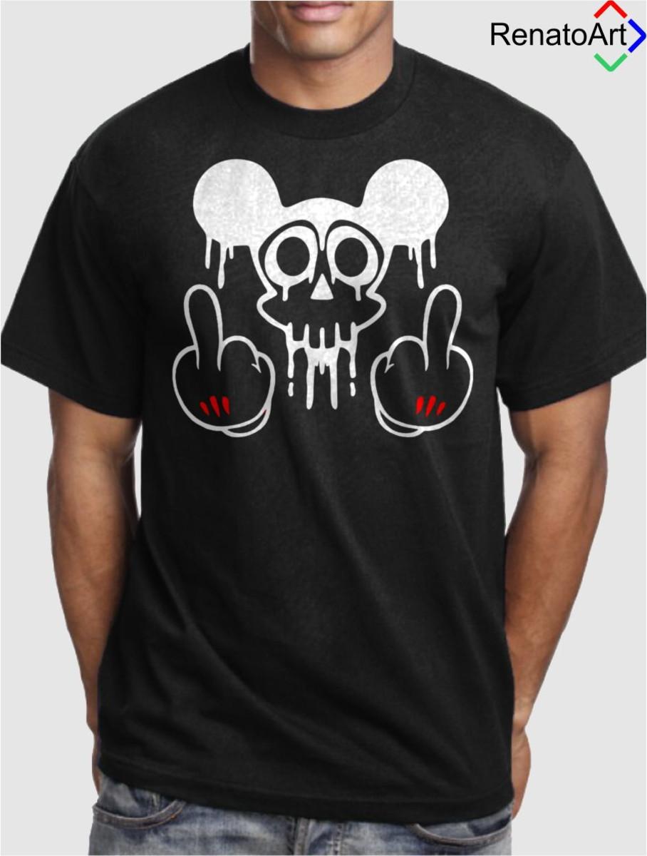 eb7ef8bb7b Camiseta Masculina - Mickey no Elo7
