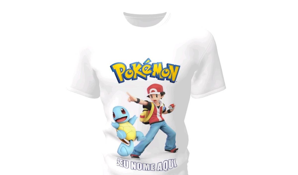 551f4614a Camiseta Camisa Blusa Personalizada Pokemon no Elo7