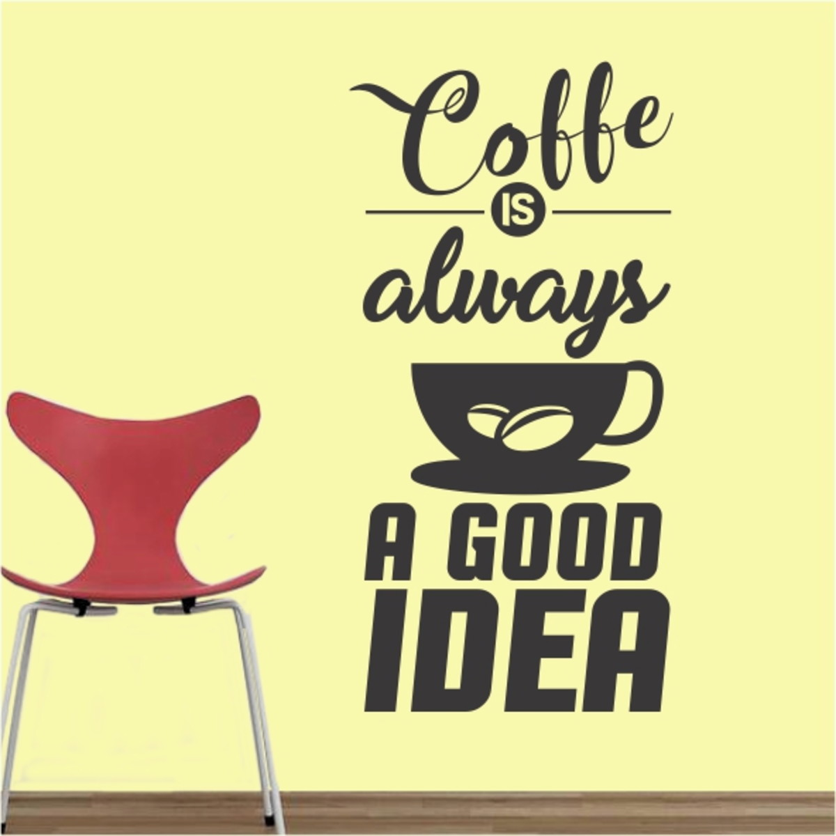 adesivo recorte cozinha mod9 coffe always a good idea no elo7