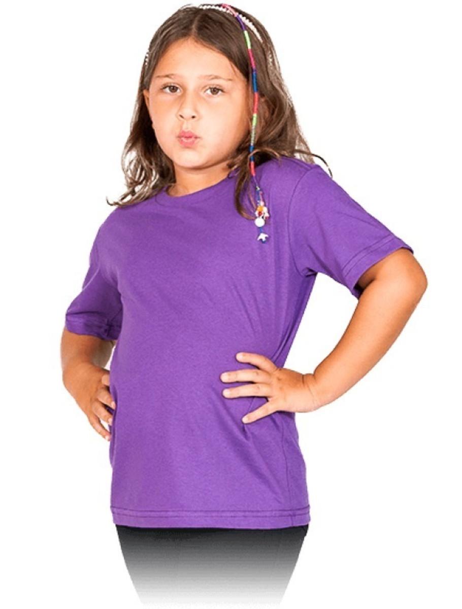 698d0fd425 Camiseta Infantil Básica Lisa Algodão Cores Unissex Roxa Vio no Elo7 ...