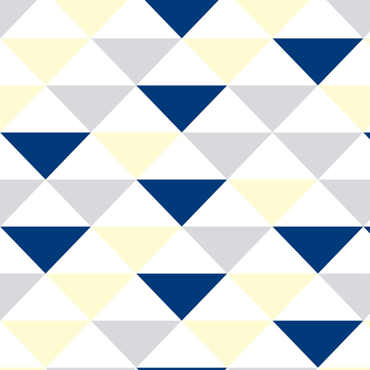6793d1dcd Papel parede geométrico triângulo azul cinza branco amarelo no elo jpg  1200x1200 Amarelo papel parede geometrico