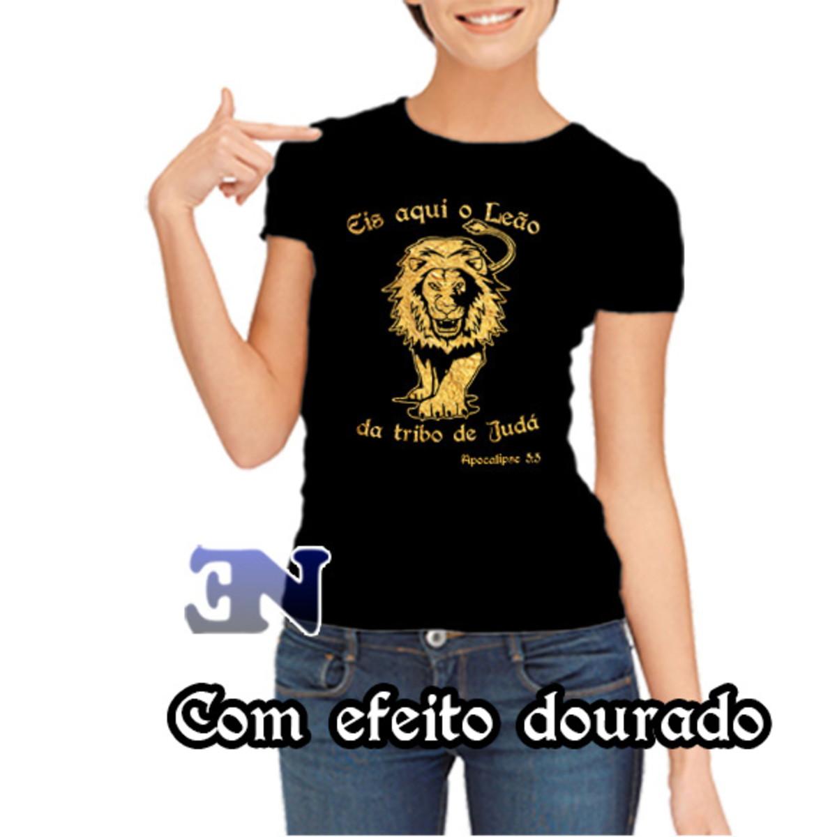 f8659adbf Camiseta Leão Da Tribo De Judá Apocalipse 5 5 - Evangélica no Elo7 ...