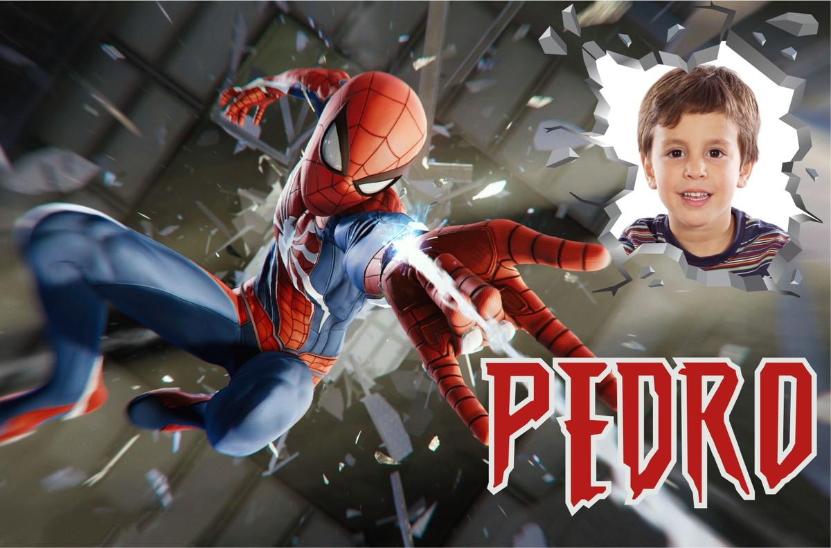 Painel Festa Aniversário Spiderman Ps4 Homem Aranha