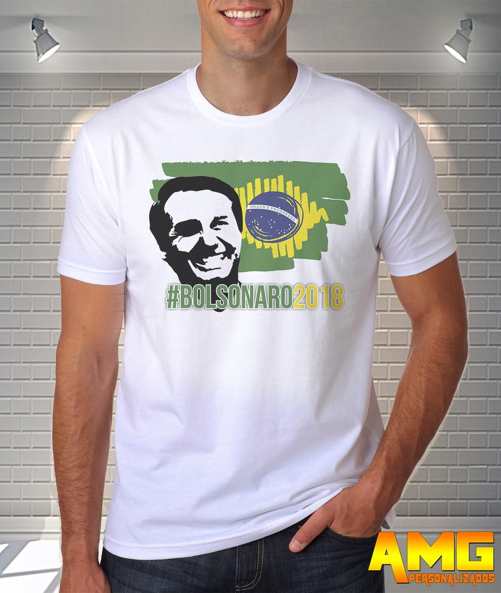 02a71ca232 Camisa Camiseta Jair Bolsonaro Presidente 2018 Mito Ref08 no Elo7 ...