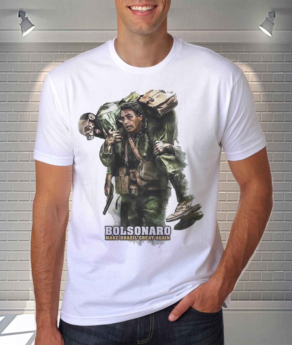 2169f307d90c6 Camisa Camiseta Jair Bolsonaro Presidente Carregando Eneas no Elo7 ...