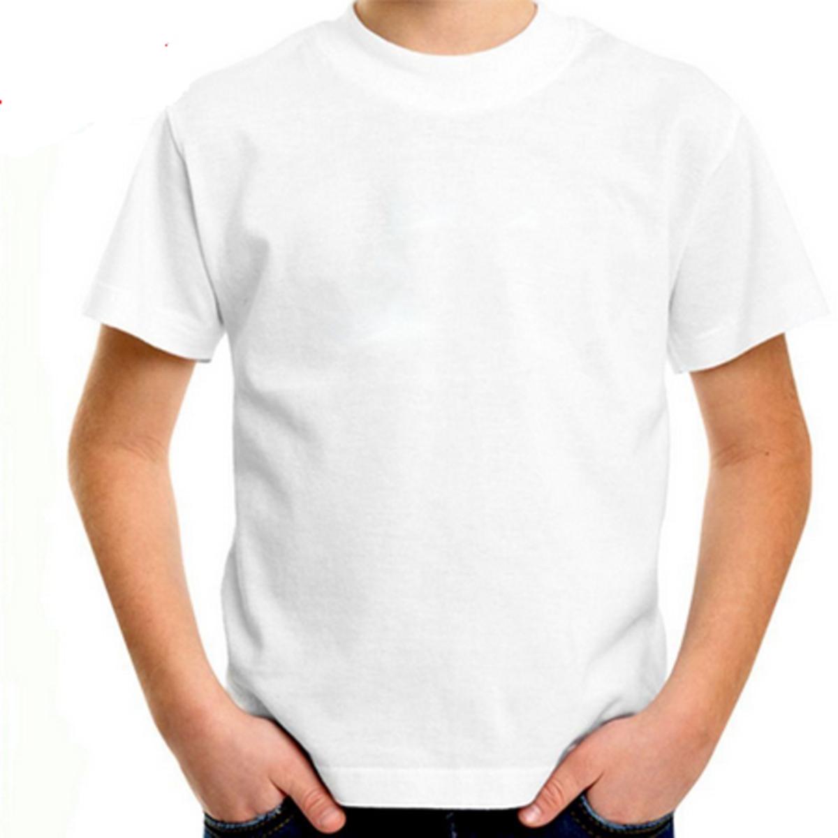 b6a2538980044 kit camiseta algodão penteado infantil branca lisa camisa no Elo7 ...