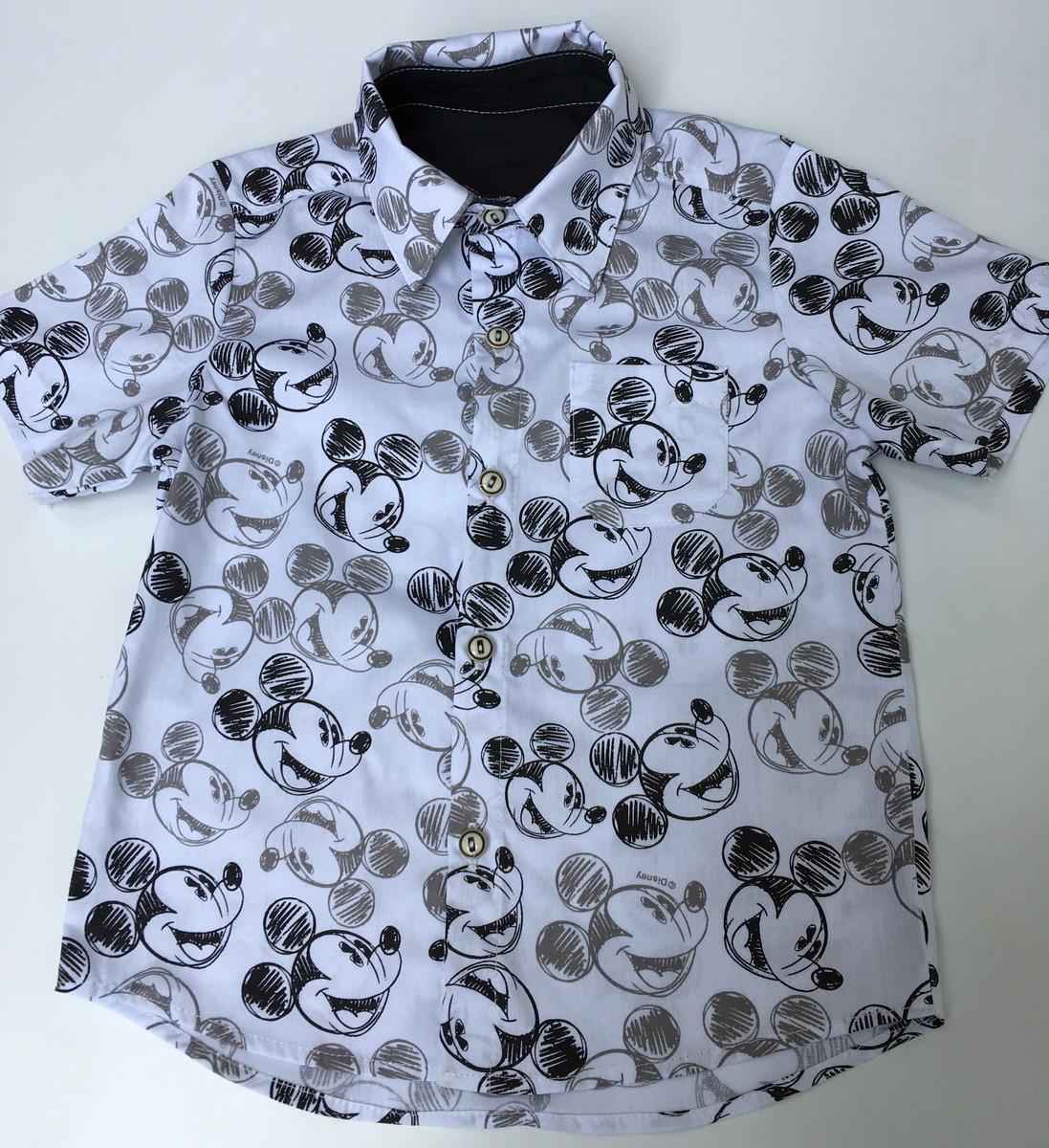 f853f27111 Camisa Mickey branca e preta no Elo7