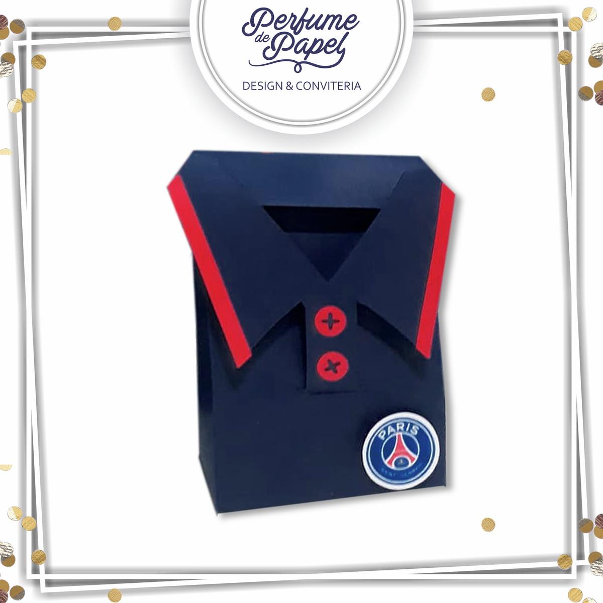 f2e83d5b7d Caixa Camisa Paris Saint-Germain no Elo7 | Perfume de Papel (D58171)