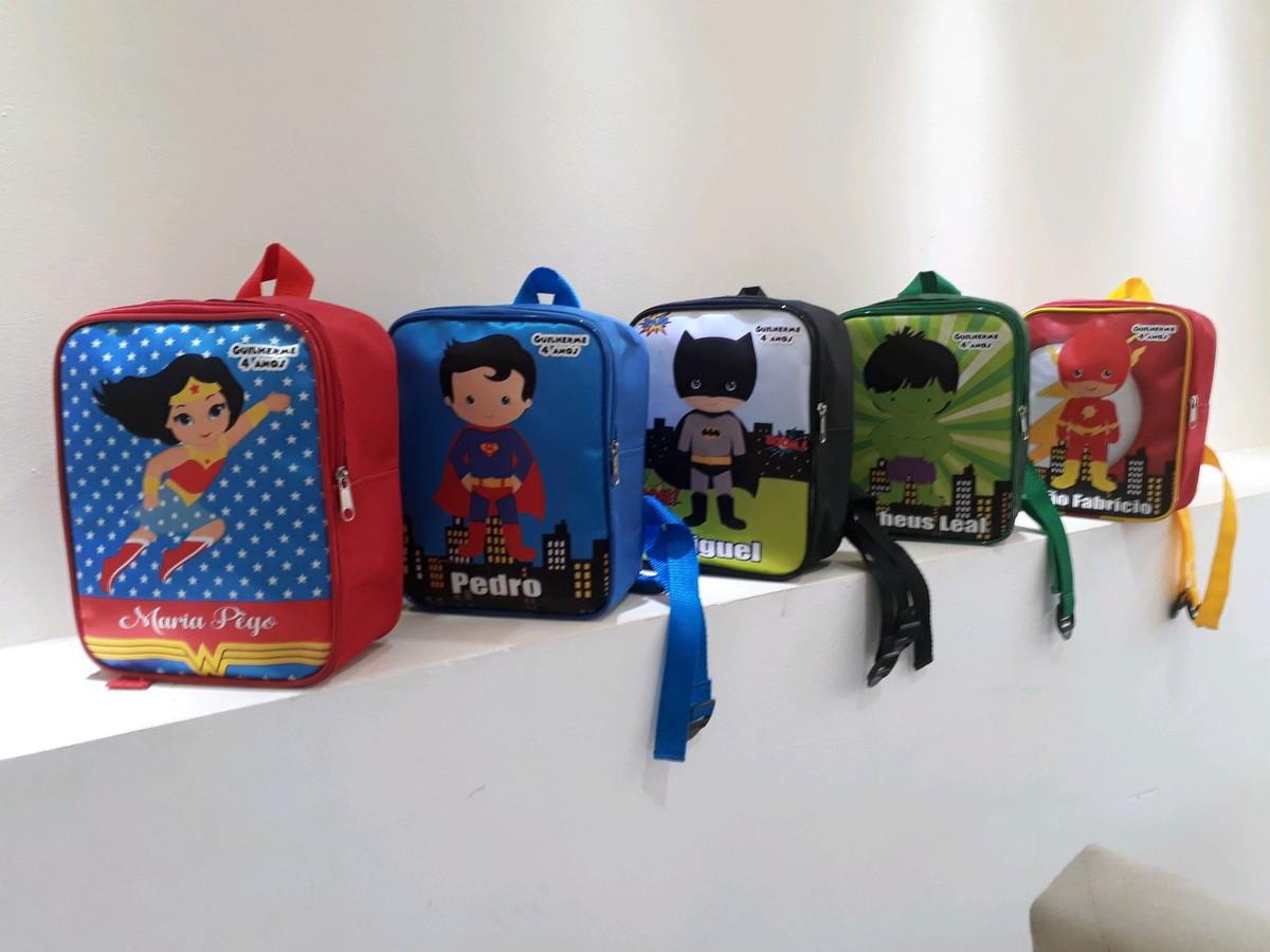 c3b9610ce Mochila Personalizada heróis cute no Elo7 | Fran Personalizados ...