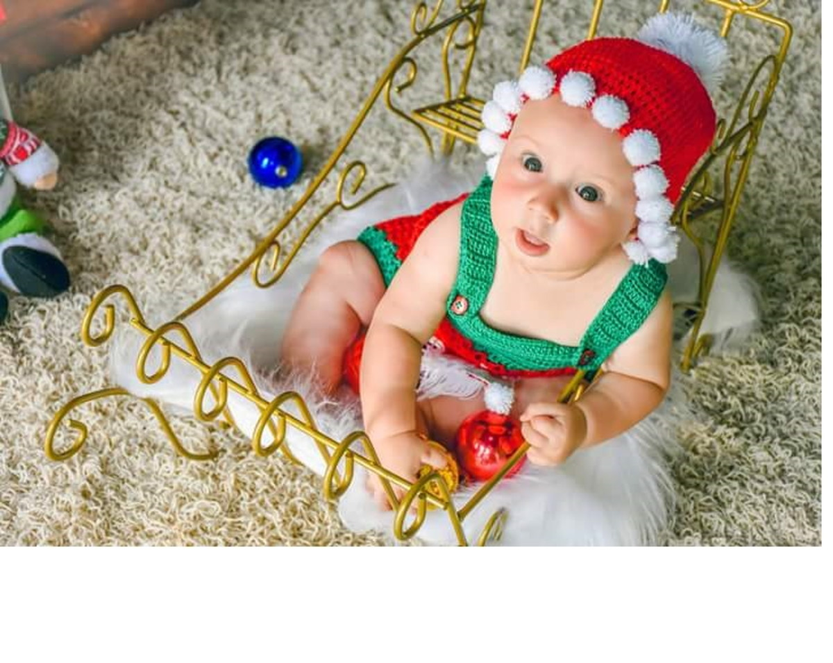 Jardineira Crochê Papai Noel no Elo7  aadc225a704