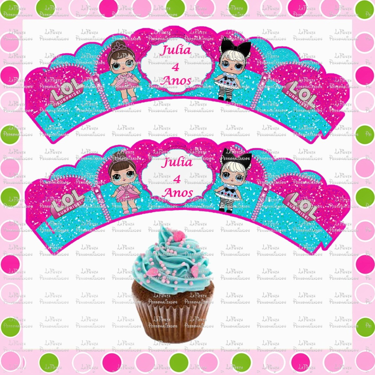Wrappers Para Cupcake Lol Surprise No Elo7