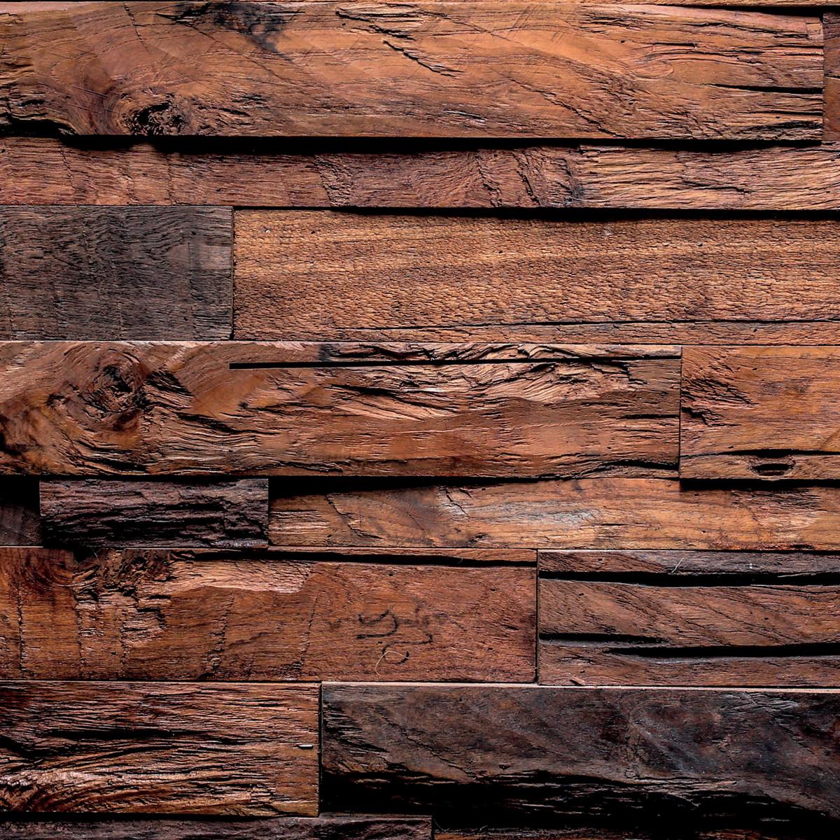 Adesivo de parede papel parede madeira r stica escura no - Papel adhesivo para paredes ...