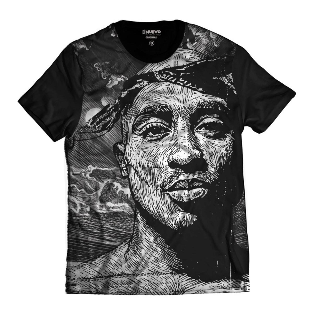 d37de50373f6c Camiseta Tupac Shakur Estilo Desenho 2pac Rap no Elo7