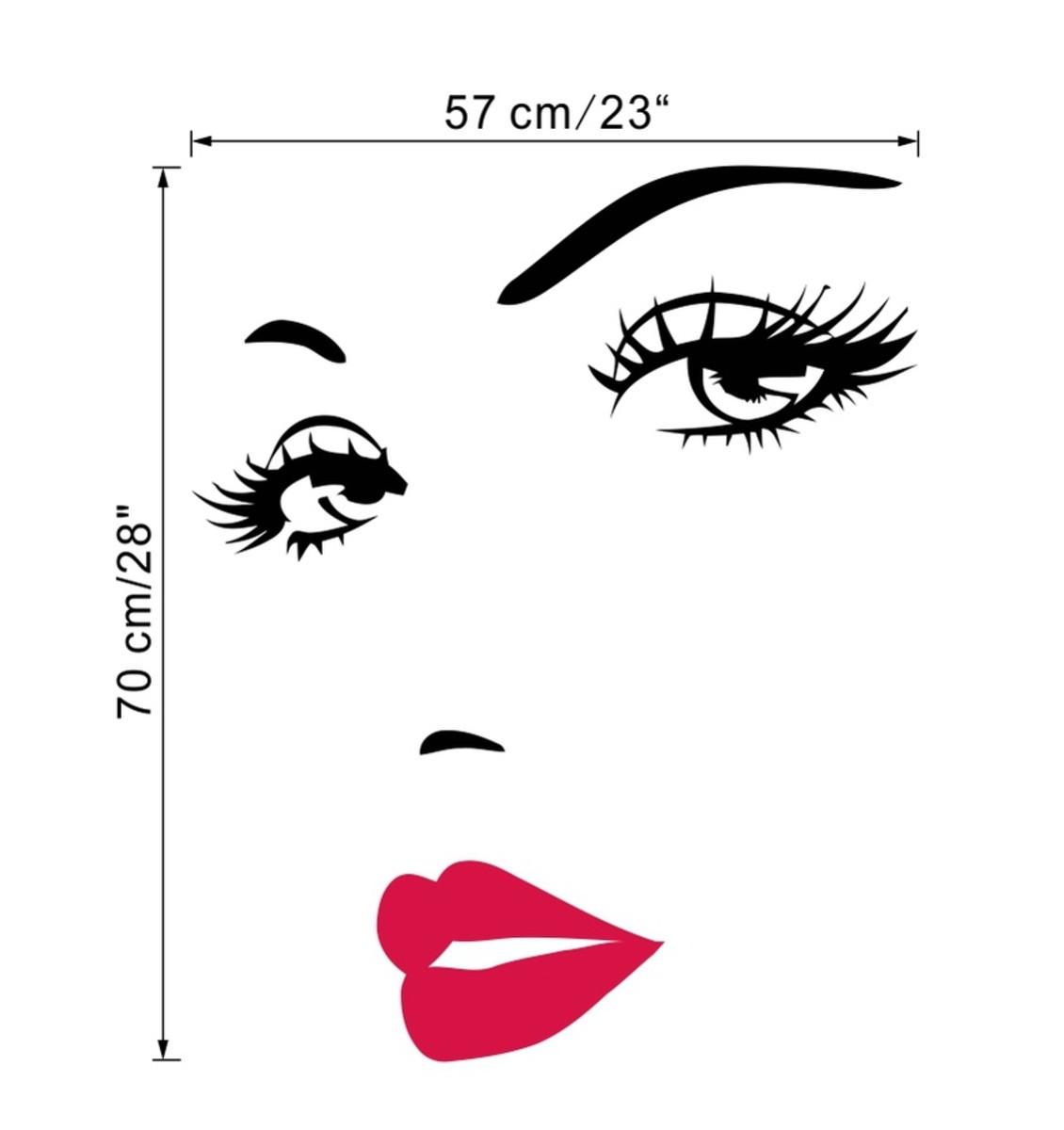 Adesivo Para Salao De Beleza Rosto Mulher Personalizado No Elo7