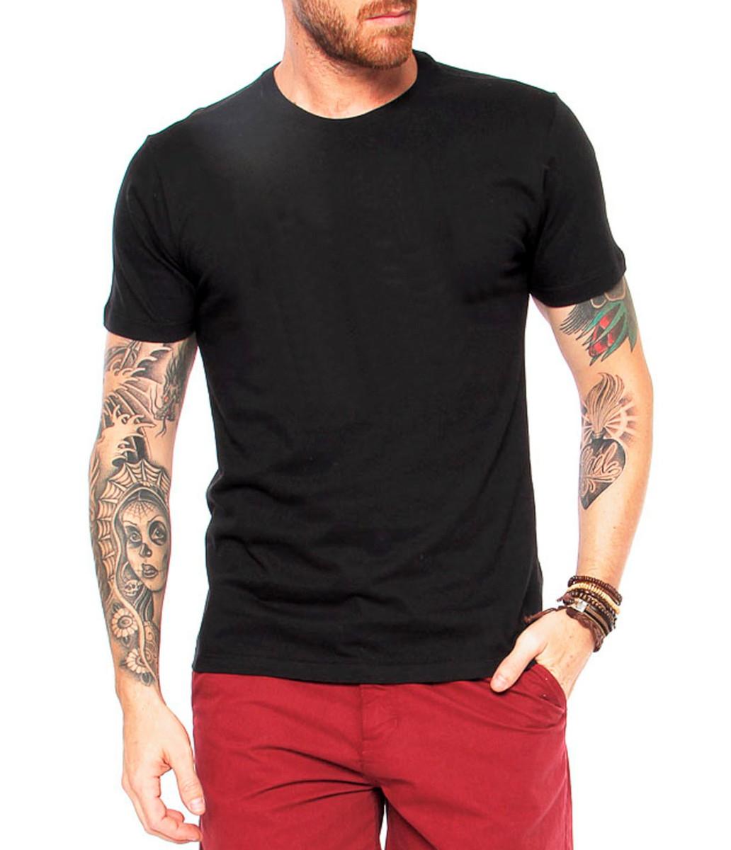 0beb25d86 Camiseta Masculina Lisa Básica Camisa Blusa Manga Curta no Elo7 ...