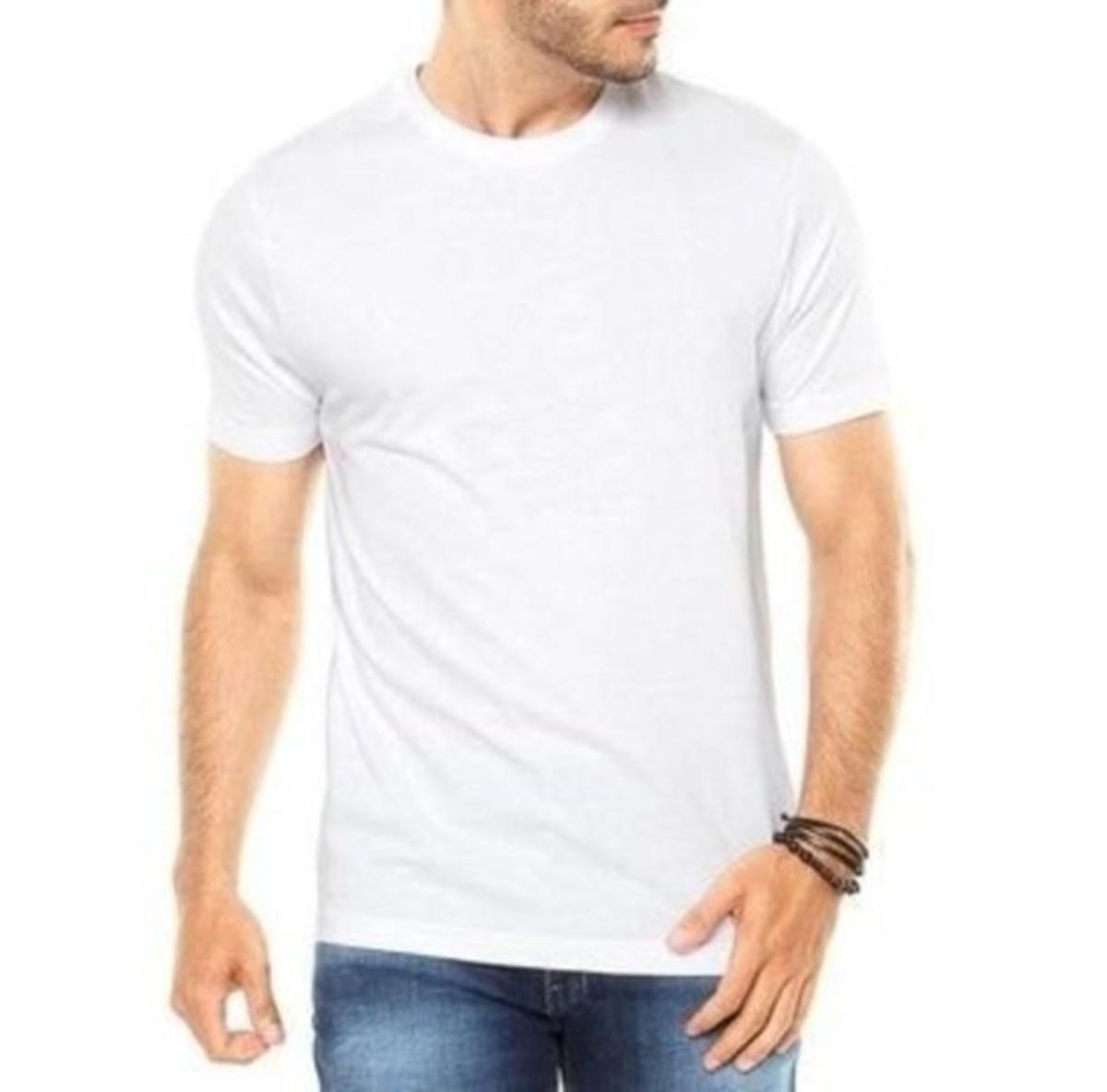 60d0e892f Camiseta Masculina Lisa Básica Camisa Blusa Manga Curta no Elo7 ...