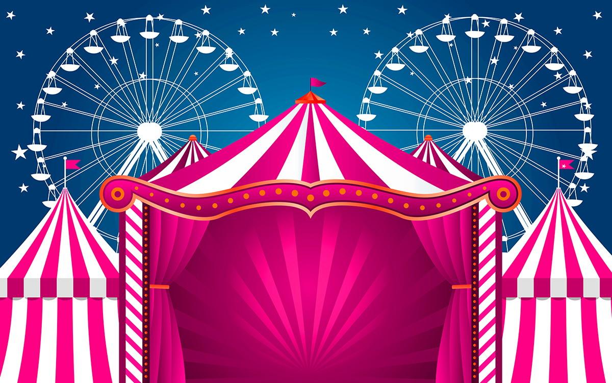 painel tecido sublimado 3d circo e roda rosa 2 50m x 1 50m no elo7 sublime sonhos d6189c. Black Bedroom Furniture Sets. Home Design Ideas