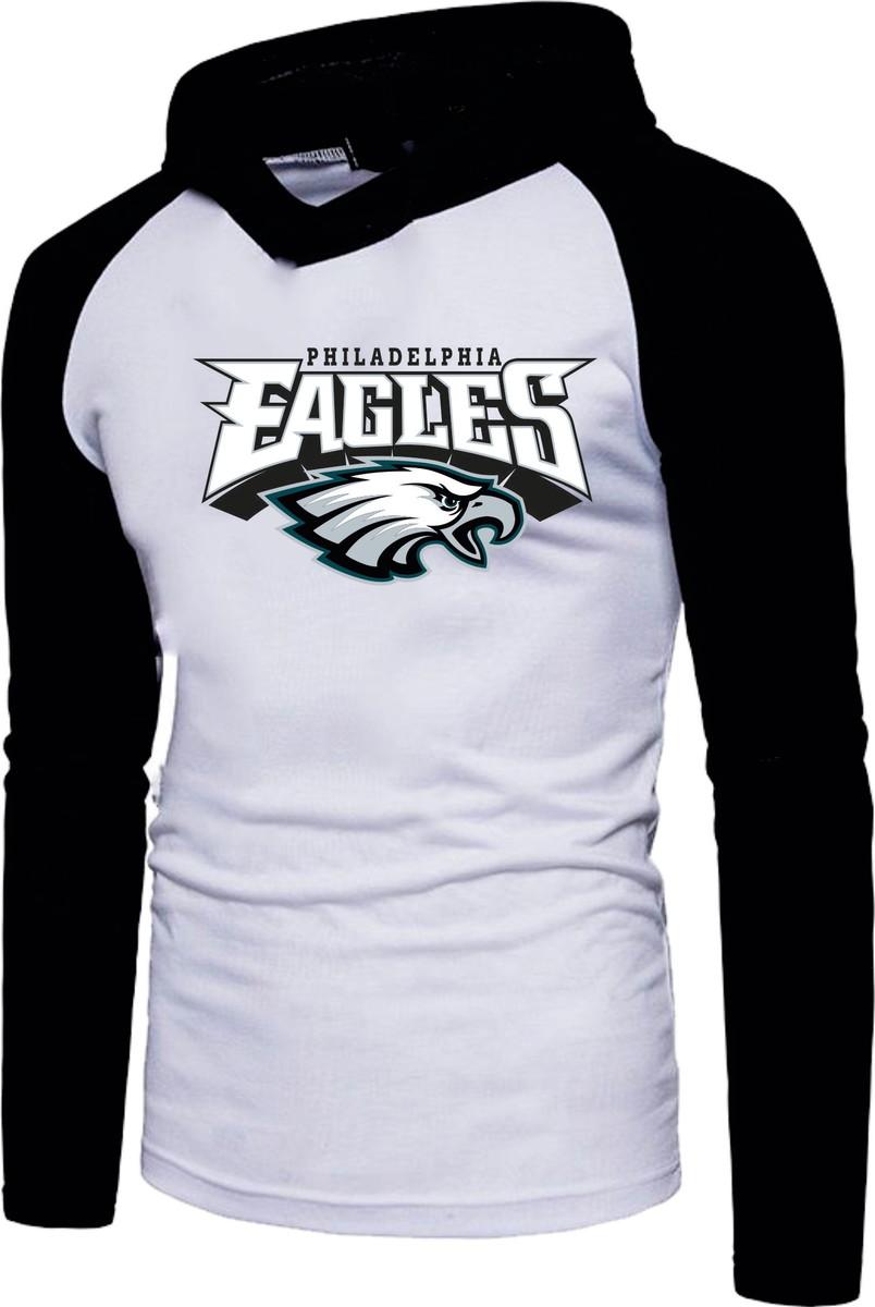 Camiseta Raglan Manga Longa Com Capuz Philadelphia Eagles no Elo7 ... ca56cb989f2
