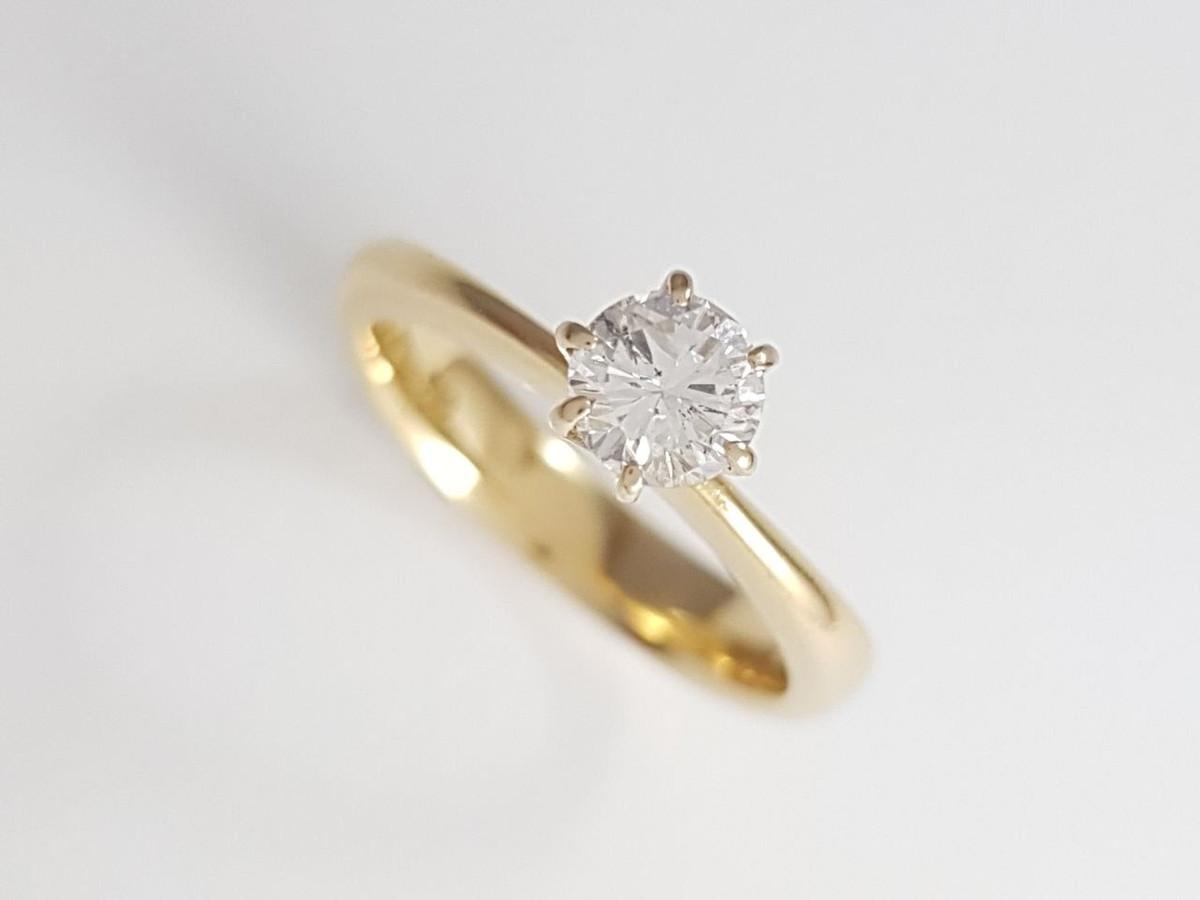 df84043f14524 Anel Solitário Diamante de 40 Pontos no Elo7