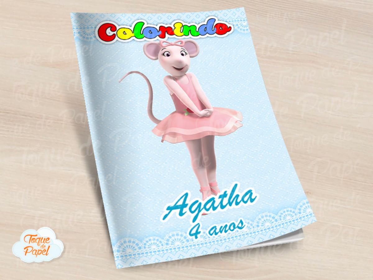 Revista Colorir Angelina Bailarina No Elo7 Toque De Papel D62ed1