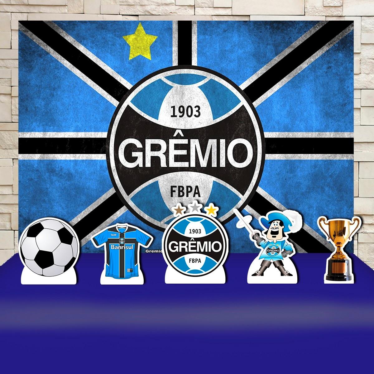 f1c677d4f10f17 Kit Festa Prata Painel + Display Time de Futebol Grêmio no Elo7 ...