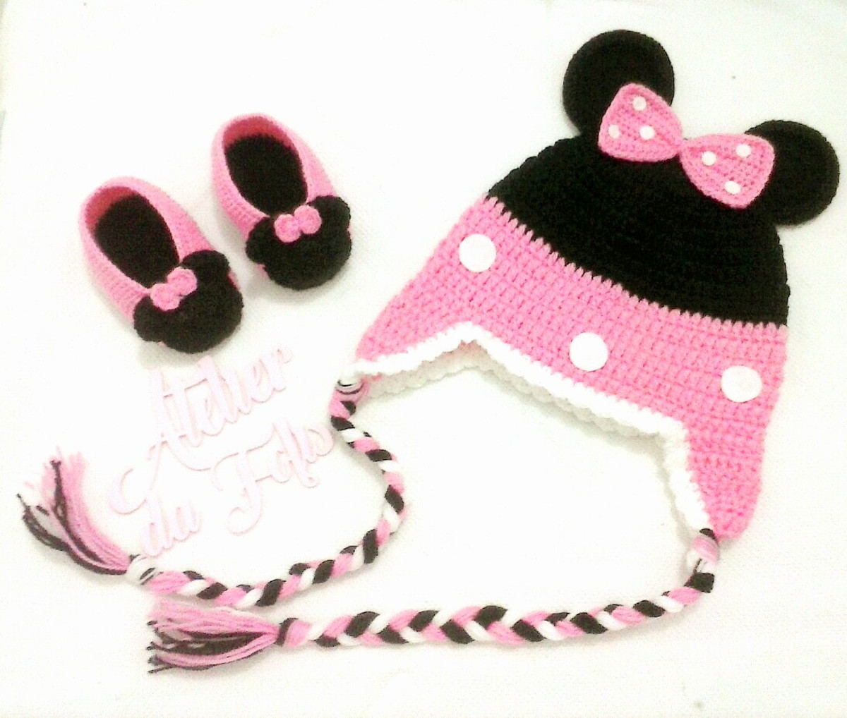 Touca Minnie e Sapatinhos no Elo7  7264c6e9d1d