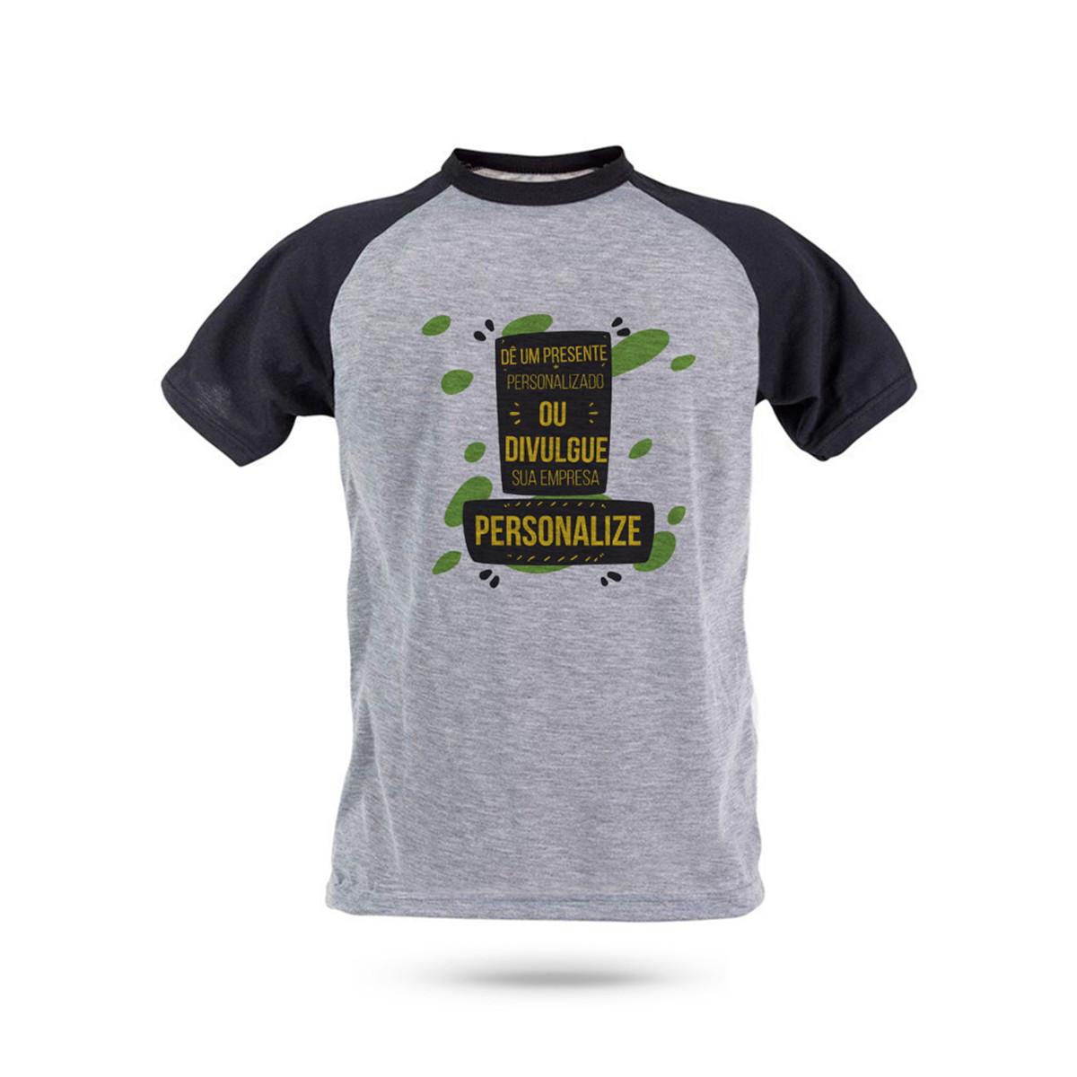 2782049a11 Camiseta Raglan Mescla Masculina Personalizada no Elo7
