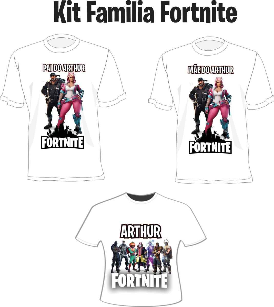 Camiseta Fortnite Festa Kit  03 camisetas - Personalizada no Elo7 ... 4328f7a57758d