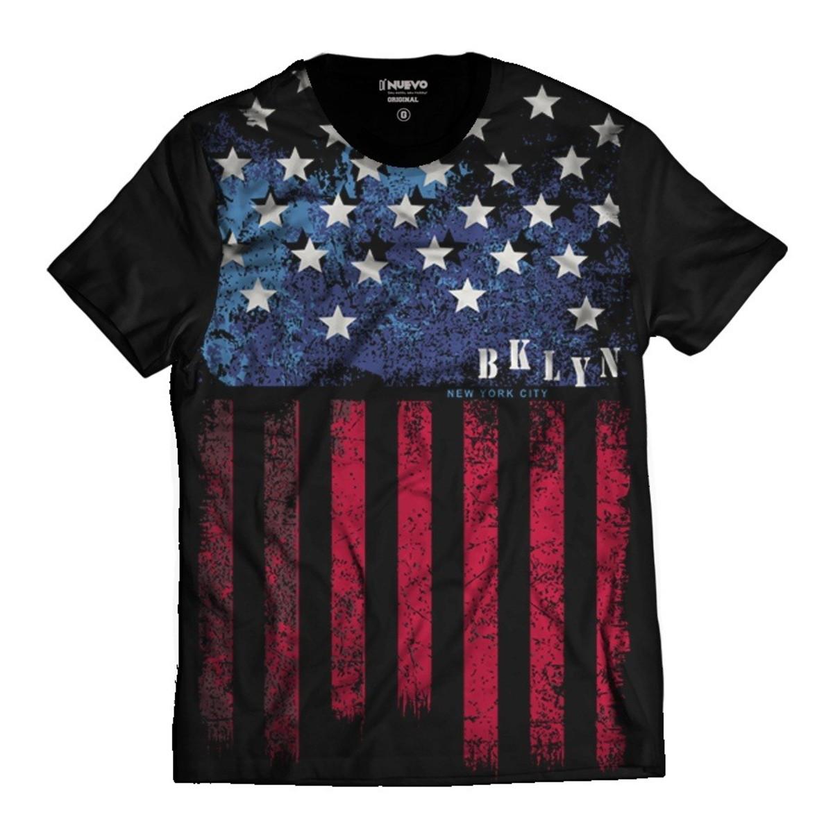 5b492fe751 Camiseta Brooklyn Bandeira dos Estados Unidos NY City no Elo7