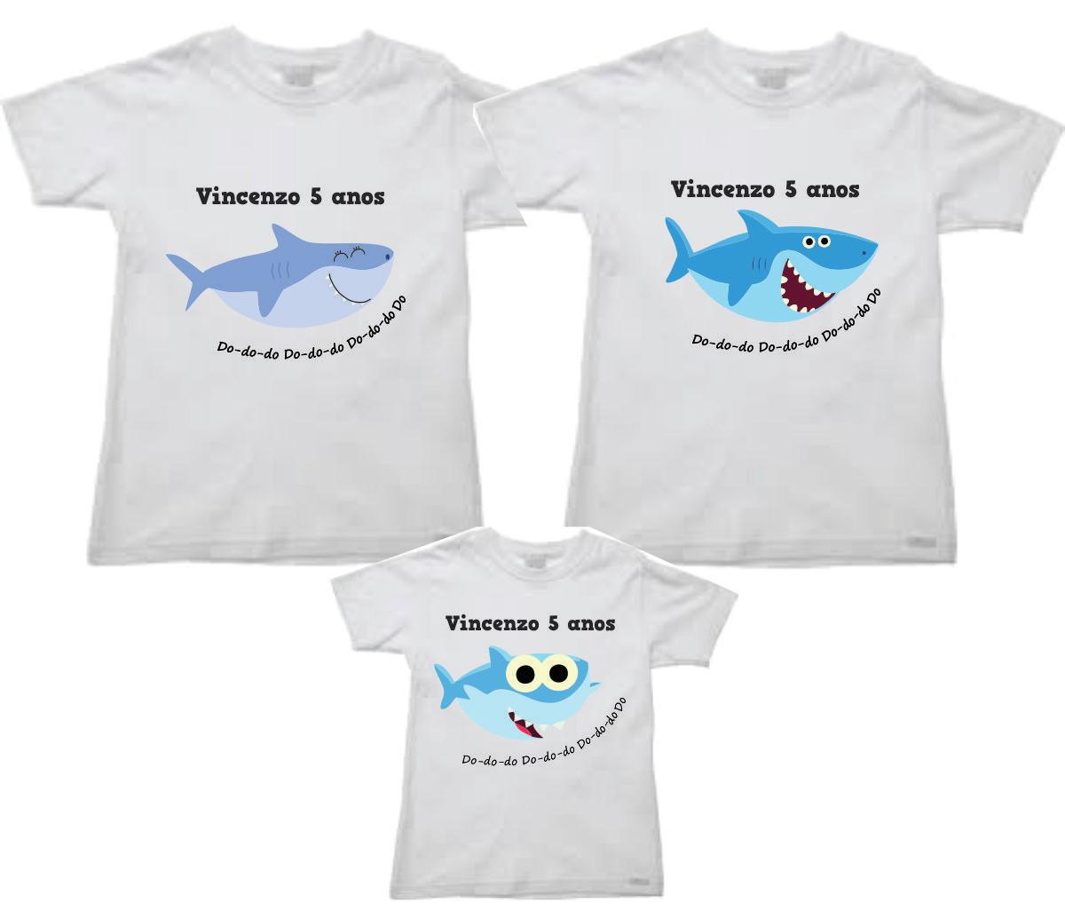 Camisetas personalizadas de tubarão no Elo7  18d06401130b6