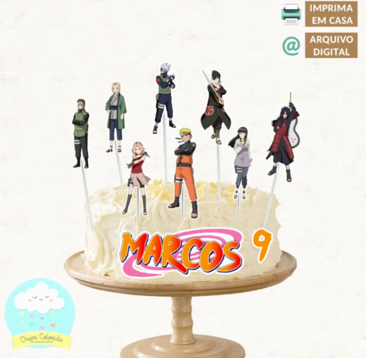 Arquivo Digital Topo Topper De Bolo Scrap Naruto No Elo7 Chuva